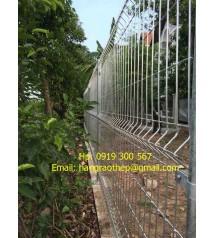Hàng rào mạ kẽm - hàng rào vườn